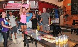 Beer Pong at the Amazing Cabo Crawl